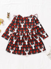 Load image into Gallery viewer, Baby Toddler Girl Christmas Reindeer Ruffled Sleeve Dress