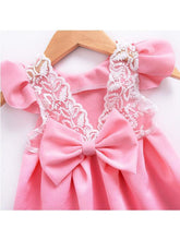 Load image into Gallery viewer, Bow Pierced Laced Princess Dress For Baby Toddler Girls