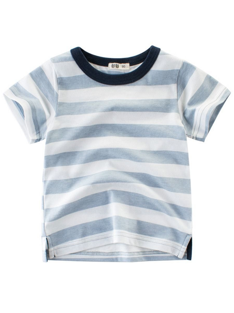 Stripe Casual T-shirt For Toddler Big Boy