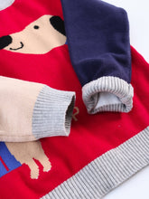 Load image into Gallery viewer, Cute Dog Pattern Color Block Little Boys Knitted Sweater