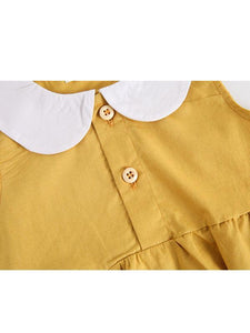 Cute Peter Pan Collar Cotton Baby Girls Romper
