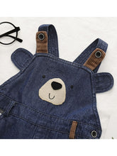 Load image into Gallery viewer, Fall Adorable Bear Bib Overalls For Baby Toddler Kids