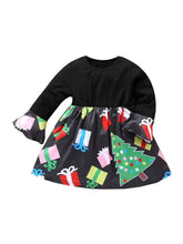 Load image into Gallery viewer, Fashion Toddler Little Girl Christmas Tree Gift Dress