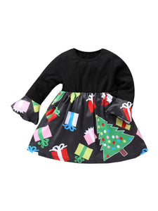 Fashion Toddler Little Girl Christmas Tree Gift Dress