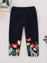 Load image into Gallery viewer, Flower Butterfly Black Leggings Pants