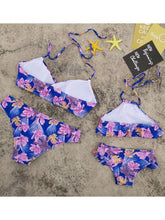 Load image into Gallery viewer, Flower Leaf Pattern Tankini Family Matching Swimwear