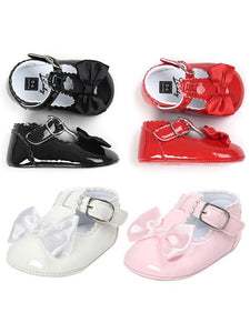 Glossy Surface Pre-walking Crib Shoes for Babies