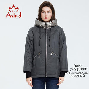 Astrid 2020 new arrival Spring Young fashion Short women coat high quality female Outwear Casual Jacket Hooded Thin coat ZM-9343