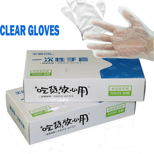 100/500 PCS/Set Food Plastic Gloves Disposable Gloves for Restaurant Kitchen BBQ Eco-friendly Food Gloves Fruit Vegetable Gloves