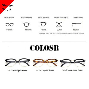 '-1 -1.5 -2 -2.5 -3 -3.5 -4 -4.5 -5.0 -5.5 -6.0   Classic Myopia Glasses Women Men Optical Glasses metal  Eyewear Frame