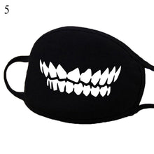Load image into Gallery viewer, Cotton Windproof Mouth Face Mask 12 Style Teeth Pattern Cartoon Mouth Masks Anime Mask Autumn Fashion Warm Face Mask Hot Sale