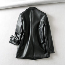 Load image into Gallery viewer, Loose PU Faux Leather Blazers Women Leather Jacket Coat Brand New Women's Jackets Outerwear Ladies Coats Female Leather Suit