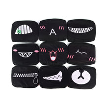 Load image into Gallery viewer, 1PC Cotton Dustproof Mouth Face Mask Unisex Korean Style Kpop Black Bear Cycling Anti-Dust Cotton Facial Protective Cover Masks