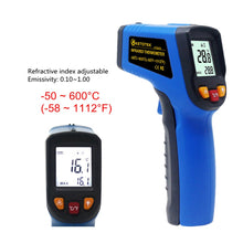 Load image into Gallery viewer, Handheld Non-contact IR Infrared Thermometer Digital LCD Laser Pyrometer Surface Temperature Meter Imager C F Backlight -50~600C