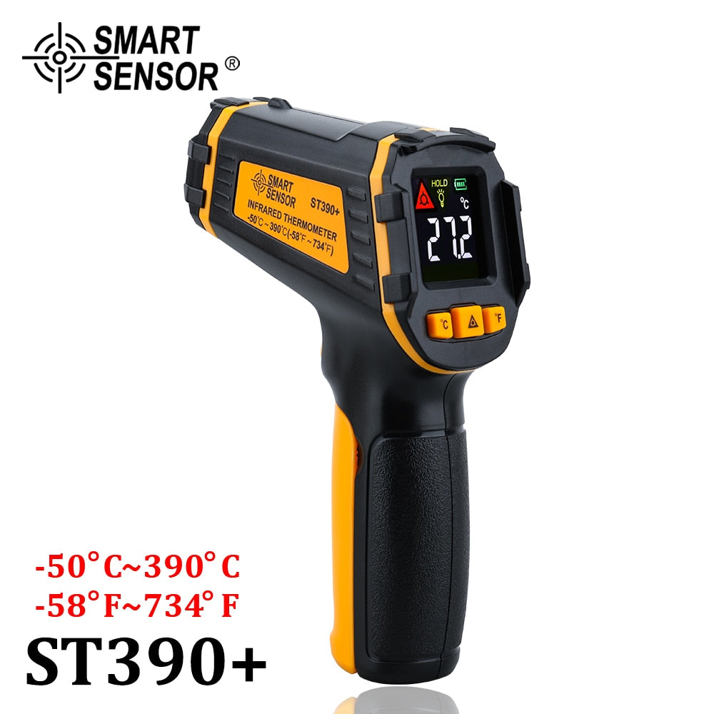 Digital Non Contact Infrared Thermometer IR Aquarium Color LCD Display Laser Gun Pyrometer High Accuracy Temperature Tester