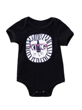 Load image into Gallery viewer, Halloween Letters Print Baby Black Romper Onesies