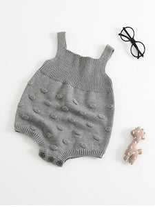 Handcrafted Bubbles Cotton Knitwear Baby Suspender Onesie
