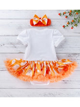 将图片加载到图库查看器,Happy Halloween 2-Piece Romper Dress + Headband