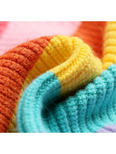 Load image into Gallery viewer, Mom and Me Rainbow Color Crochet Sweater 2-color