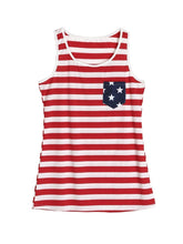 Load image into Gallery viewer, Mom and Me Fourth Of July Striped Tank Top