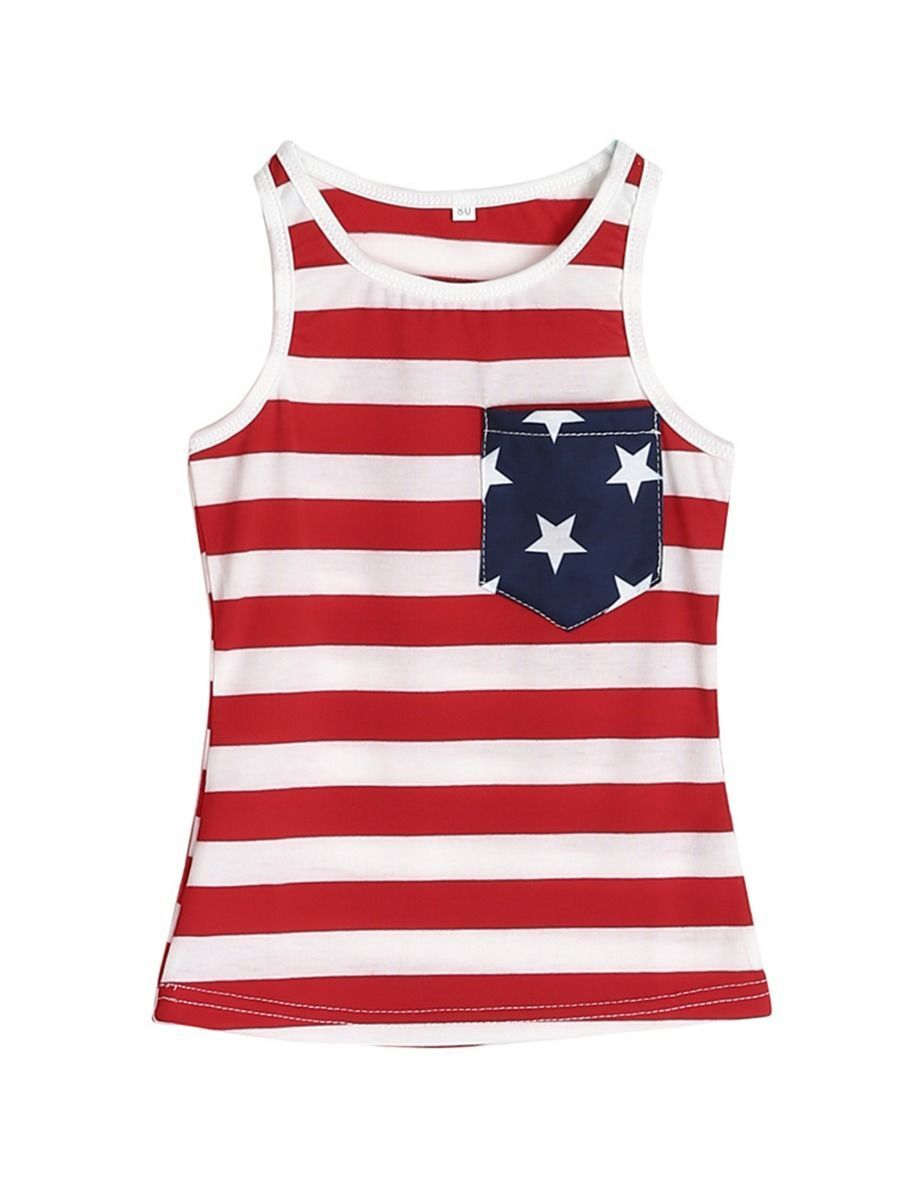 Mom and Me Fourth Of July Striped Tank Top