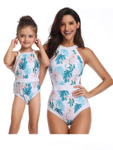 Load image into Gallery viewer, Mommy & Me Leaf Print One-piece Swimwear