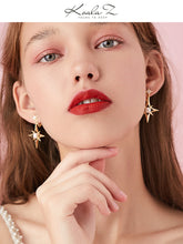 Load image into Gallery viewer, Eight bright stars earrings for women in Europe and America
