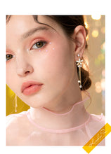 Load image into Gallery viewer, Gentle temperament of metal shell flower crystal tassel snail no ear hole ear clip female painless