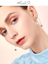 Load image into Gallery viewer, Simple and versatile, simple design, metal notes, pearl like earrings, ear clip, no ear hole, female, cold personality in Europe and America