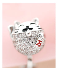 Load image into Gallery viewer, Chinese style cute Lucky Cat lucky lucky lucky lucky Earrings without earholes