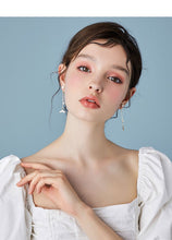 将图片加载到图库查看器,Mermaid female fish tail earrings long hundred set earringearrings no ear hole 2019 new dolphin ear nails Han