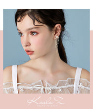 Load image into Gallery viewer, Advanced textured star meteor star waterfall long stream Sudo drop earring earrings no ear hole female super fairy