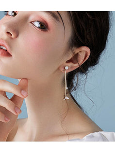 Mermaid female fish tail earrings long hundred set earringearrings no ear hole 2019 new dolphin ear nails Han