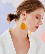 将图片加载到图库查看器,Hyperbole Gently ginger geometry European and American earrings no ear socket clip female