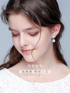 Special price rose pearl Pendant Earring clip European and American earless female transparent silicone cushion