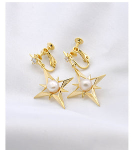 Eight bright stars earrings for women in Europe and America