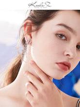 Load image into Gallery viewer, Medium-length round face thin silver stitching missing angle pentagon star flow su ear nail no ear hole ear clip female painless