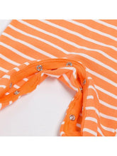 Load image into Gallery viewer, Pumpkin Smile Face Striped  +Headband Halloween 2-piece Set