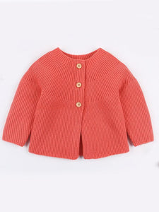 Solid Color Spanish Style Clothes Baby Girls Knitted Cardigan