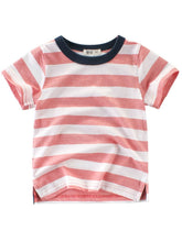Load image into Gallery viewer, Stripe Casual T-shirt For Toddler Big Boy
