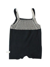 Load image into Gallery viewer, Strapped Bodysuit Color Block Stripes Knitted Romper