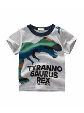 Load image into Gallery viewer, Summer Cartoon Dinosaurs Print Top Cotton Tee Short-sleeve T-shirt