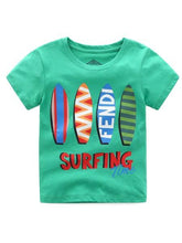 Load image into Gallery viewer, Surfing Time Toddler Little Boy T-shirt