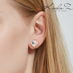 Authentic Austria Crystal Classic Square Crystal Ear Clip Ear Holes Female Clip Simple Joker