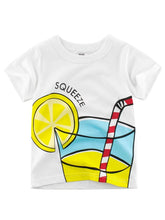 Load image into Gallery viewer, Summer Letters Print White T-shirt for Toddler Big Boys