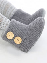 Load image into Gallery viewer, Winter Ribbed Baby Furry Knitted Boots