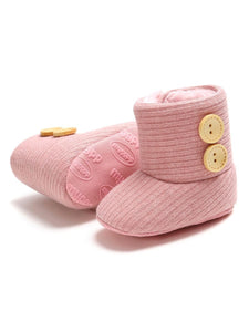 Winter Ribbed Baby Furry Knitted Boots