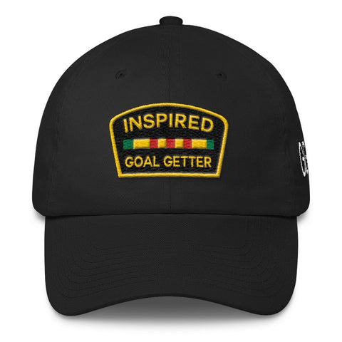 Inspired Goal Getter Dad Hat - Black