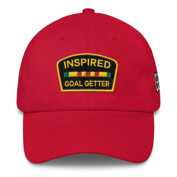Inspired Goal Getter Dad Hat - Red