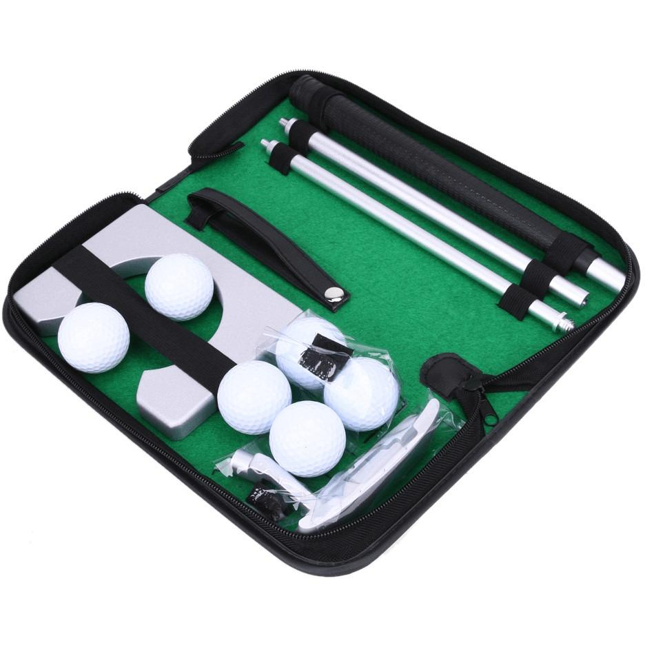 Portable Travel Indoor Golf Putting Practice Kit (Balls+Foldable Putter+Hole)